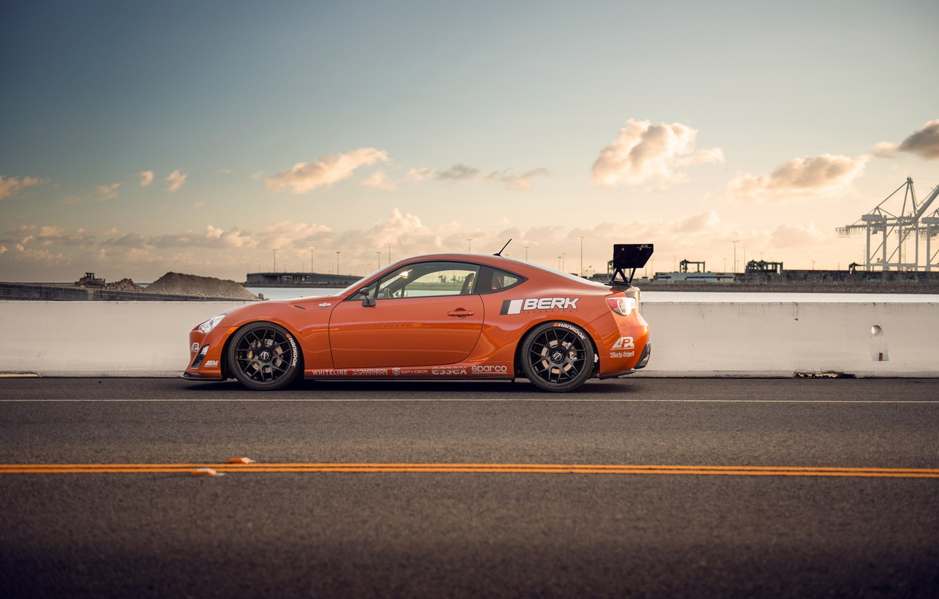 Photo wallpaper orange, tuning, profile, Toyota, tuning, orange, Scion, Scion, fr-s, FR-s