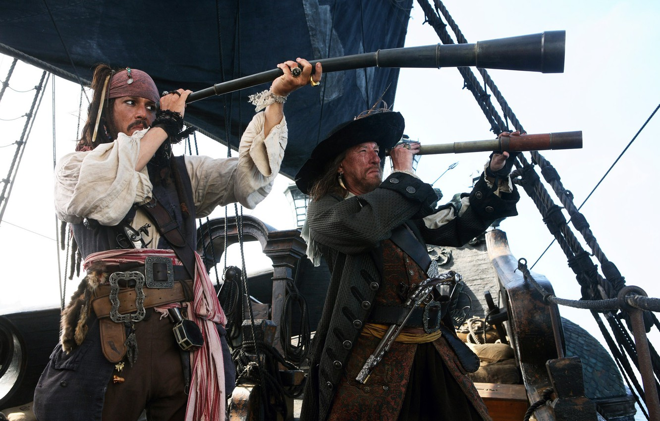 Photo wallpaper pirates of the Caribbean, captains, Pirates of the Caribbean