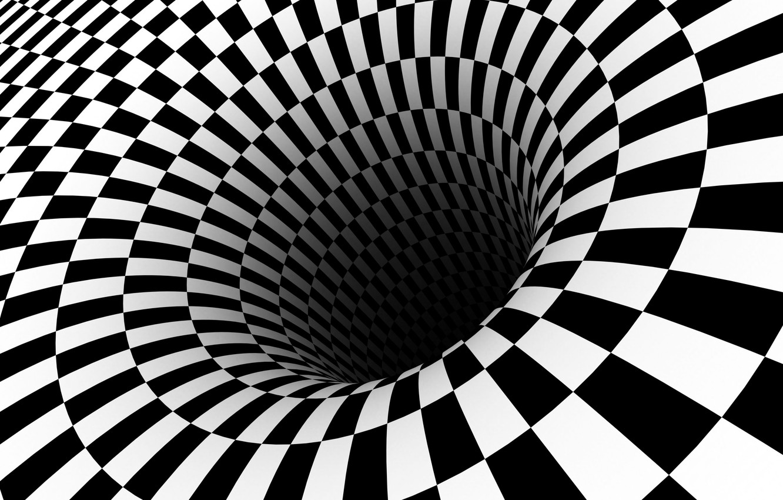 Photo wallpaper white, black, optical