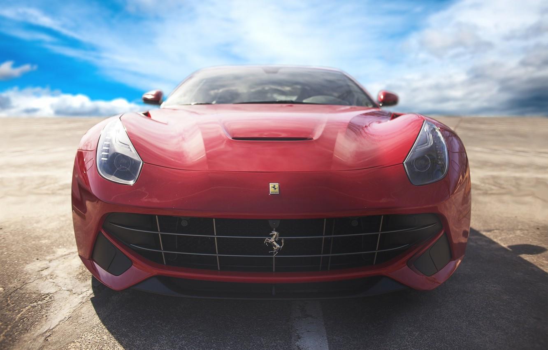Photo wallpaper Red, Ferrari, Ferrari, Supercar, Berlinetta, F12, Berlinetta, F12, The front