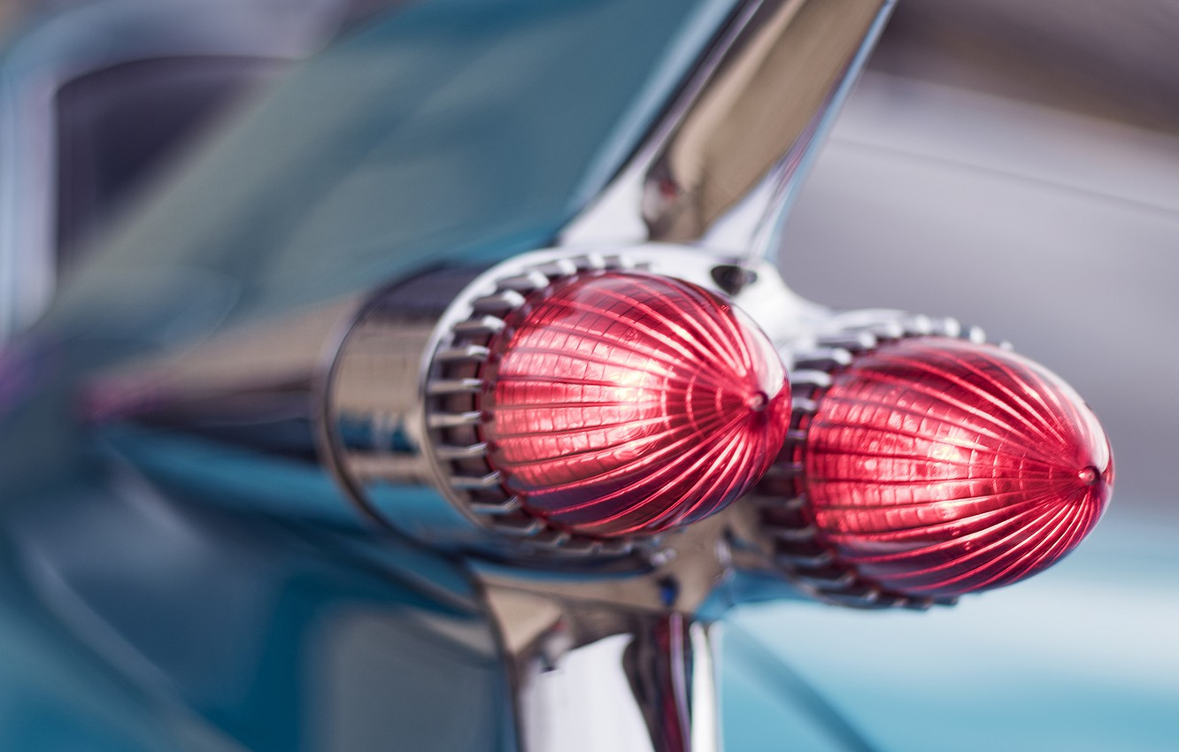 Photo wallpaper retro, lights, Cadillac, 1959, Then they Wanted to