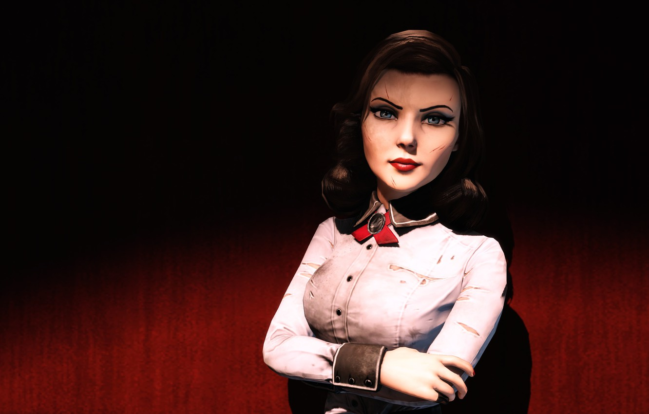 Photo wallpaper Look, Hair, Bioshock, Wounds, Infinite, Elizabeth, Burial at Sea