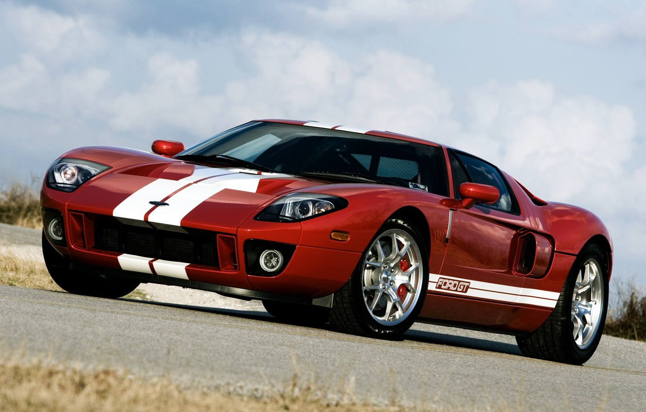 Photo wallpaper the sky, red, tuning, Ford, Ford, supercar, tuning, the front, Hennessey, GT700