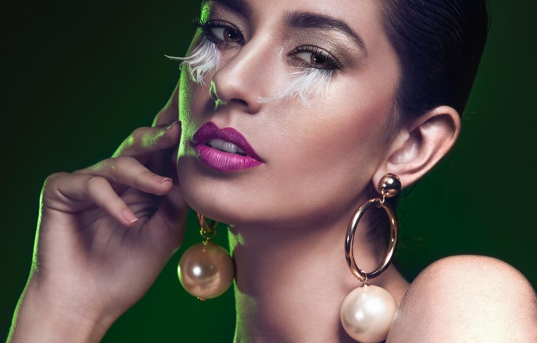 Photo wallpaper look, face, style, model, makeup, Silva