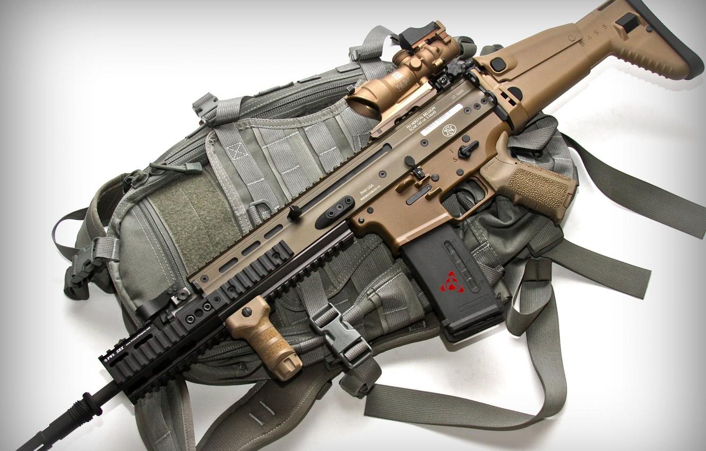 Photo wallpaper weapons, optics, fn scar 16s