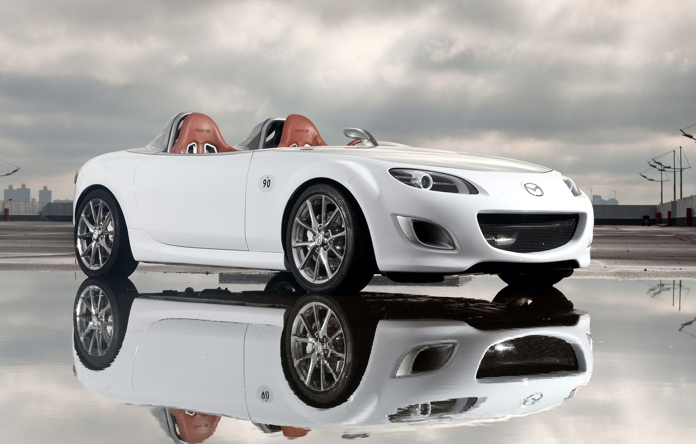 Photo wallpaper reflection, concept, Mazda, superlight
