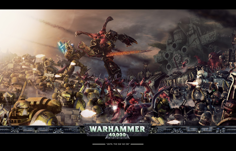 Photo wallpaper war, destruction, warhammer 40000