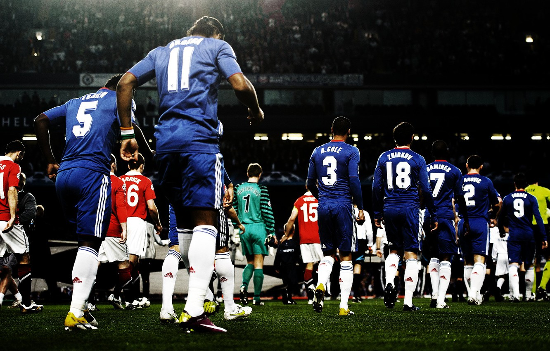Photo wallpaper Champions League, Manchester United, Chelsea, Cole, Zhirkov, Ramires, Torres.Cech, Stamford Bridge, Ivanovic, Essien. Carrick, Drogba, …