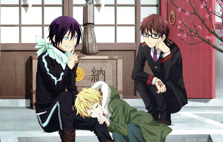 Photo wallpaper noragami, Yato, Yukine, A homeless God, Kazuma