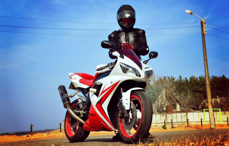 Photo wallpaper Wallpaper, Men, Motorcycles, Yamaha R1