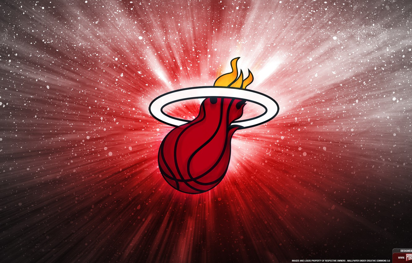 Photo wallpaper logo, basketball, lebron, Miami Heat, Lebron james