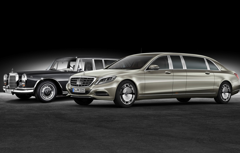 Photo wallpaper Mercedes, Maybach, Mercedes, Maybach, Pullman, 2016, S 600, VV222