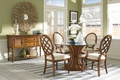 Picture house, interior, dining room, vintage style, brown oak wood