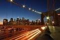 Picture lights, road, the evening, Bridge