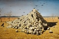 Picture Vereshchagin, picture, skull, the apotheosis of war