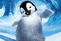 Picture winter, snow, ice, penguin, character, Happy feet, Cartoon