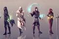 Picture Mass Effect, Assassin's Creed, The Elder Scrolls V: Skyrim, Dishonored, Corvo Attan, Amon, Ezio Auditore ...