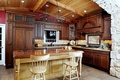 Picture design, table, chairs, interior, the ceiling, kitchen, wooden