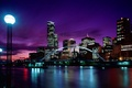 Picture city, night, Melbourne, awesome, Australia, buildings