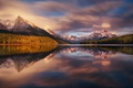 Picture forest, the sky, light, mountains, lake