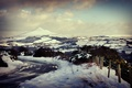 Picture winter, snow, landscapes, mountains, road, road, city