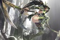 Picture weapons, omegaboost, aoin, art, league of legends, jump, girl, akali