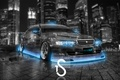 Picture City, Toyota, Blue, Photoshop, Neon, Toyota, Chaser, Chayzer, Crystal, el Tony Cars, Tourer V