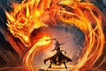 Picture Hearthstone, magic, art, guy, WoW, World of Warcraft, The dragon's breath, dragon, Dragon's Breath, Blackrock ...
