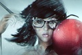 Picture face, glasses, art, girl, blow, hipster, dodgeball