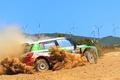 Picture Dust, Machine, Race, Day, Rally, Rally, Side view, Skoda, Fabia, Skoda