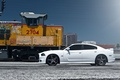 Picture the sky, train, profile, white, wheels, drives, Dodge, dodge, charger, srt8, SRT, train, the charger, ...