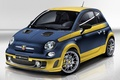Picture Fiat, background, 695, Out Of This Series, the front, Abarth, Of Abart, Fiat, hatchback, blue