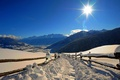Picture Park, snow, mountains, winter, white, sunset, the sun, road, sky, scenery, forest, park, cool, snow, ...