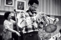 Picture musicians, pipe, Woody Shaw, Rufus Reid, jazz, music, bass, jazz musicians