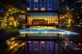 Picture water, table, HDR, the evening, pool, the, The, Pool, Four, Seasons, marble window