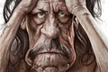 Picture eyes, face, wrinkles, Danny Trejo