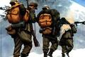 Picture snow, mountains, figure, soldiers, rifle, machine gun, ammunition, The second world war, huntsman, German