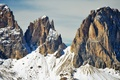 Picture The Dolomites, southern Alps, Italy, mountains, winter