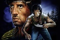 Picture Rambo: First blood, First Blood, Sylvester Stallone, art, figure, Sylvester Stallone, John Rambo, action