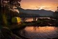 Picture landscape, sunset, girls, The Altai Mountains, Mobiba, venturism, Katun, Mobibu MB-103, Manzherok
