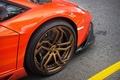 Picture Lamborghini, wheel, orange, Aventador