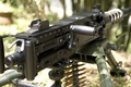 Picture machine gun, easel, Browning M2, machine gun