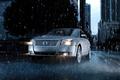 Picture road, drops, machine, city, the city, rain, road, mercury sable rain, water drops