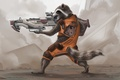 Picture rocket, raccoon, raccoon, guardians of the galaxy, art