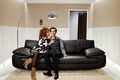 Picture sofa, woman, Room, male