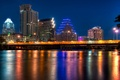 Picture night, Austin, night, Austin, usa, Texas, Texas, City of Color