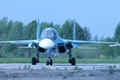 Picture bomber, Russian, Su-34, the front., fighter, multifunction, the airfield