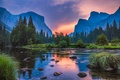 Picture landscape, sunset, mountains, nature, CA, Yosemite