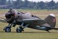 Picture the plane, pilot, -16, Polikarpov, Soviet multipurpose fighter, Vzlet.