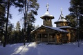 Picture temple, winter, monastery. Cathedral, nature, Finland, photo, Lapland